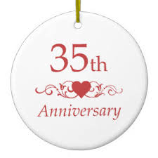 35 year wedding anniversary 35th wedding anniversary gift ideas for friends imbusy for
