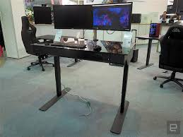 Pc Built Into A Desk A Combination Standing Desk Pc Is The Ultimate All In One