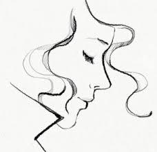 pretty sketch garance dore profile portrait drawing