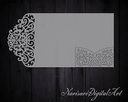 tri fold wedding invitation template tri fold ornamental 5x7 wedding invitation pocket envelope svg