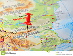 Map Of Bulgaria Bulgaria On Europe Map Stock Photography Image 4291012