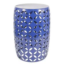 navy blue garden stool home outdoor decoration