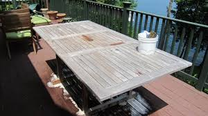 Restore Teak Outdoor Furniture by Restoring A Weathered Teak Table Ask The Builderask The Builder