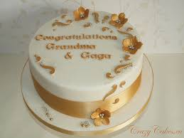 golden wedding cake ideas best wedding anniversary cakes ideas on