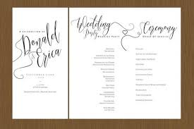 beautiful wedding programs a beautiful wedding program detail wedding design