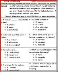5th grade reading comprehension worksheets worksheets