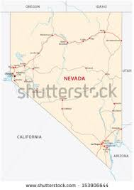 nevada road map nevada road map stock images royalty free images vectors