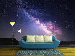 wall26 com art prints framed art canvas prints greeting wall26 landscape with milky way night sky with stars at mountains removable wall mural self adhesive large wallpaper 100x144 inches