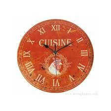 horloge ronde cuisine esprit ferme