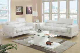 f7240 sofa u0026 loveseat set in off white bonded leather by poundex