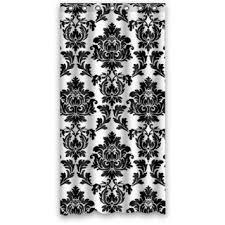 Shower Curtain 36 X 72 Buy Black And White Elegant Traditional Damask Waterproof Bathroom