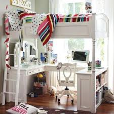white loft bed with desk girls loft bed with a desk and vanity amicicafe co