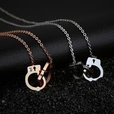personalized necklaces for women fashion personalized jewelry titanium steel handcuff choker