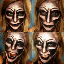 halloween makeup smile scary demon evil face halloween makeup primp powder pout