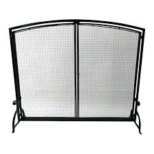 metal 2 door fireplace screen bronze at home at home