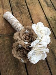 country wedding bouquets diy burlap flower wedding bouquet burlap wedding flowers diy