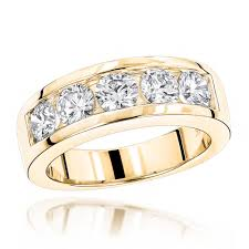 14k wedding band 14k gold mens wedding band 2ct 5