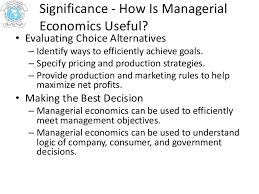 nature scope significance of managerial economics