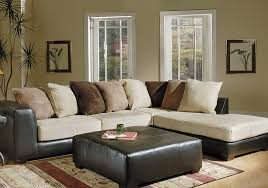 Black Microfiber Sectional Sofa Impressive F7615 Poundex Chocolate Microfiber Sectional Sofa
