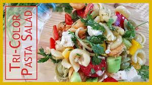how to make tri color pasta salad olive oil and apple vinegar