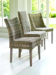alluring wood top table and rattan dining chairs in rustic small