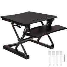 bureau ergonomique support de table assis debout de bureau ergonomique réglable en noir