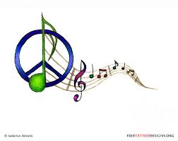 peace and music tattoo designs pictures to pin on pinterest