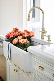 farmhouse kitchen faucet farmhouse kitchen sink with brass gooseneck faucet transitional