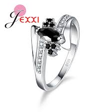 sterling diamond china jexxi 2017 brand new design fashion cz engagement rings for
