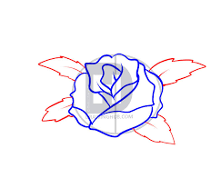 how to draw a rose tattoo step by step drawing guide by