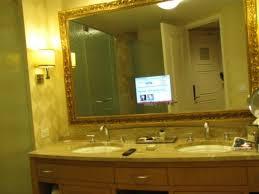 tv in a mirror bathroom bathroom tv in the mirror picture of trump international hotel