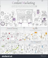 design management careers doodle line design web banner templates stock vector 367668200