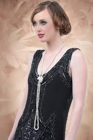 girl pearl necklace images 20s long pearl necklace in ivory jpg