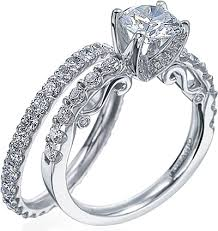 brilliant diamond rings images Verragio detailed engagement ring with round brilliant diamonds png