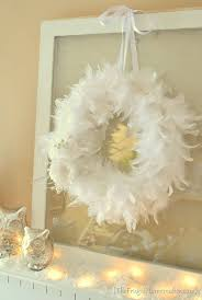 winter white feather wreath omg a way to lots of contained