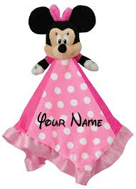 personalized disney minnie mouse baby snuggle blanky