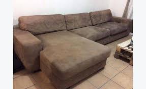 canapé daim canapé à angle en daim beige annonce meubles et décoration