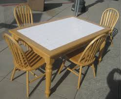 tile top dining room tables uhuru furniture collectibles sold tile top table and four