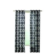 home decorators collection semi opaque red cotton duck grommet semi opaque black fretwork grommet curtain 50 in w x 108 in