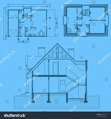 blueprint of house vector illustration house project house blueprint stock vector