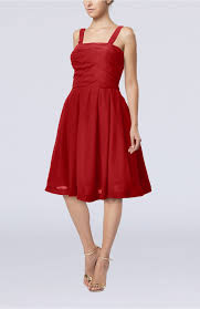 red black dress modest a line thick straps sleeveless knee