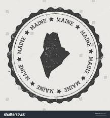Maine State Usa Map by Maine Vector Sticker Hipster Round Rubber Stock Vector 402614941