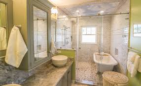 clawfoot tub shower home design by john