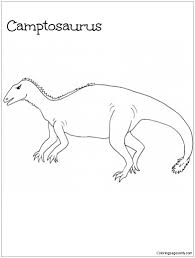 camptosaurus dinosaur coloring page free coloring pages online