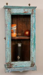 reclaimed wood bathroom wall cabinet vintage reclaimed wood blue turquoise distressed chippy hanging wall