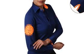 dark blue women polo shirt 39 orange lining dress shirts for