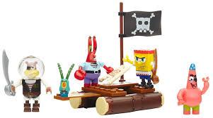 mega construx spongebob squarepants pirate figure pack building