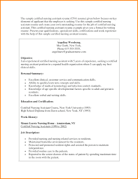 Hha Resume Samples Cna Resume Template