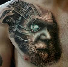 charles darwin cyborg tattoo inkstylemag