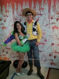 Woody Halloween Costumes Homemade Couple Costume Buzz Lightyear Woody Homemade